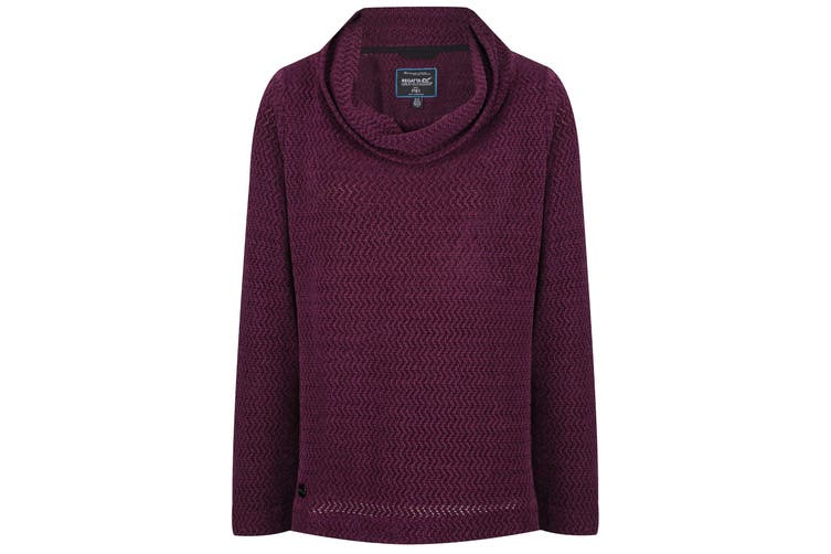 Regatta Womens/Ladies Quintia Cowl Neck Knitted Fleece (Prune) (8 UK)
