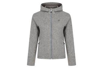 Dare 2B Womens/Ladies Forerun Full Zip Hooded Fleece Jacket (Ash) (8 UK)