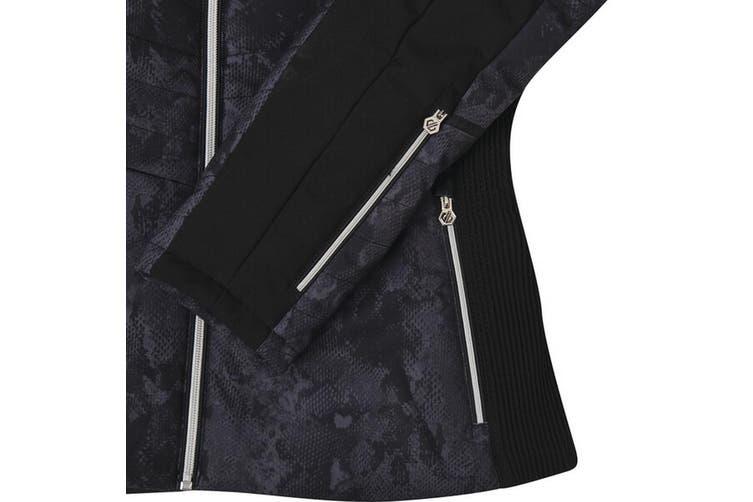 Dare 2b Womens Iceglaze Faux Fur Trim Luxe Ski Jacket (Black) (10 UK)