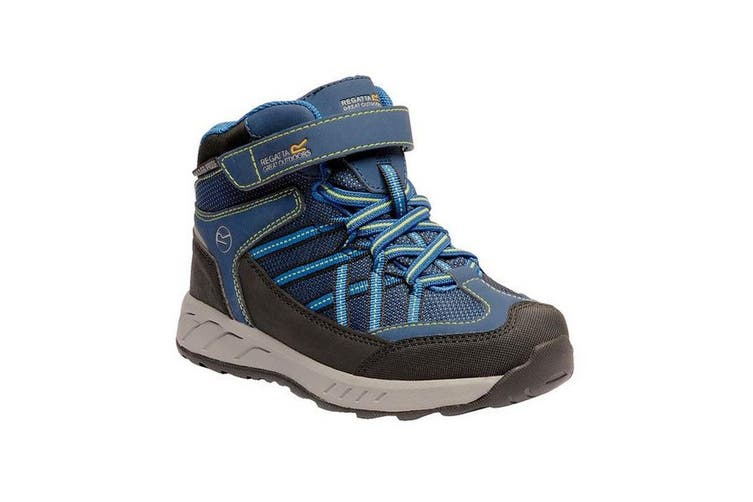 Regatta Kids Samaris V Mid Walking Boots (Prussian/Neon Spring) (2.5 UK Child)