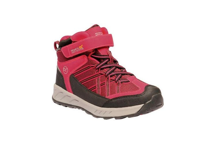 Regatta Kids Samaris V Mid Walking Boots (Dark Cerise/Neon Pink) (1 UK Child)