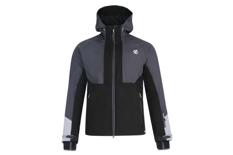 Dare 2b Mens Panoramic Waterproof Jacket (Black/Ebony) (S)