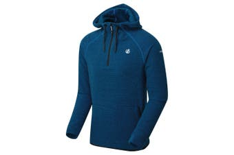 Dare 2B Mens Forgo Half Zip Hooded Fleece (Athletic Blue) (L)
