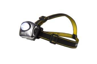 Regatta Great Outdoors 5 LED Headtorch With Head Straps (Black/Seal Grey) (One Size)