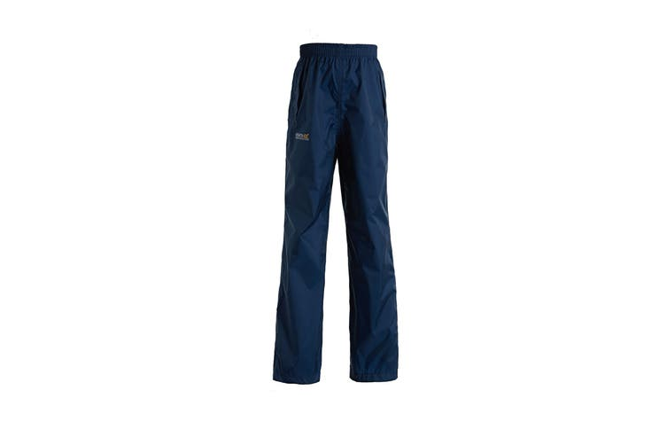 Regatta Great Outdoors Kids Boys Adventure Tech Pack It Waterproof Overtrousers (Midnight) (13 Years)
