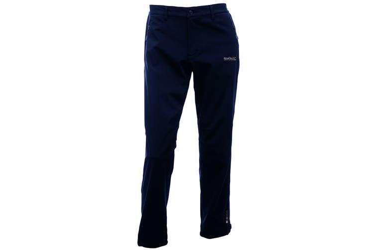 Regatta Great Outdoors Mens Adventure Tech Geo II Wind Resistant Long Leg Softshell Trousers (Black) (36)