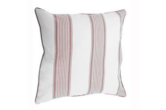 Riva Home Nautical Stripe Cushion Cover (55cm X 55cm) (Wine) (55x55cm)