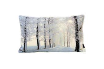Riva Home Glitter Forest Cushion Cover (Cream) (30 x 50cm)