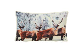 Riva Home Glitter Stag Cushion Cover (Cream) (30 x 50cm)