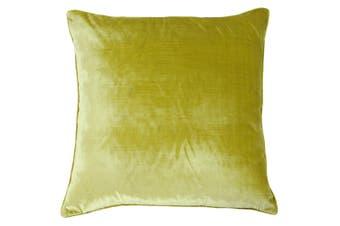 Riva Home Luxe Velvet Cushion Cover (Limon) (55 x 55cm)