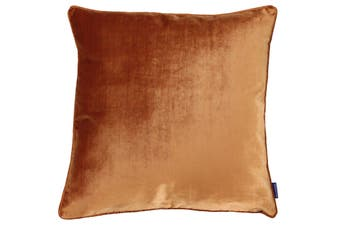 Riva Home Luxe Velvet Cushion Cover (Rust) (55 x 55cm)