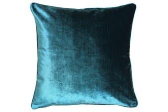 Riva Home Luxe Velvet Cushion Cover (Teal) (55 x 55cm)