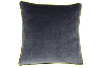 Riva Home Meridian Cushion Cover (Charcoal/Moss) (55 x 55cm)