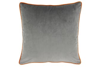 Riva Home Meridian Cushion Cover (Grey/Clementine) (55 x 55cm)