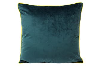 Paoletti Meridian Cushion Cover (Teal/Yellow) (55x55cm)