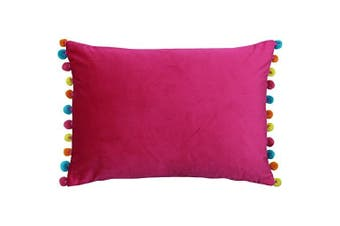 Paoletti Fiesta Rectangle Cushion Cover (Hot Pink/Multi) (35 x 50cm)