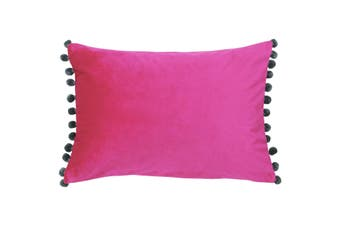 Paoletti Fiesta Rectangle Cushion Cover (Magenta/Grey) (35 x 50cm)