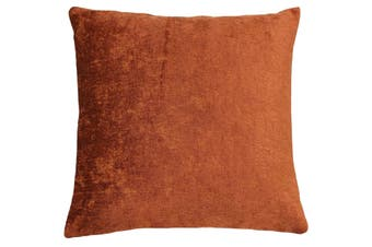 Riva Home Hampton Velvet Style Square Cushion Cover (Pumpkin) (50x50cm)
