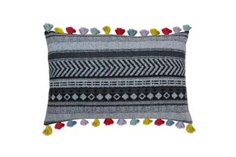 Riva Home Peru Cushion Cover (Black) (40 x 60cm)