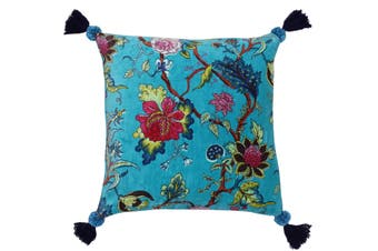 Riva Home Tree Of Life Cushion Cover (Kingfisher Blue) (50 x 50cm)