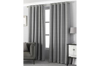 Riva Home Pendleton Ringtop Eyelet Curtains (Graphite) (117 x 137cm)