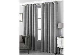 Riva Home Pendleton Ringtop Eyelet Curtains (Graphite) (229 x 137cm)