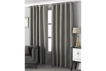 Riva Home Viceroy Ringtop Eyelet Curtains (Taupe) (168 x 137cm)