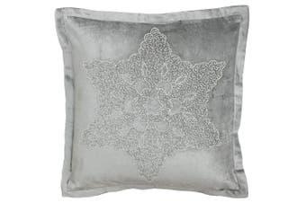 Riva Paoletti Wonderland Snowflake Christmas Cushion Cover (Silver) (50x50cm)