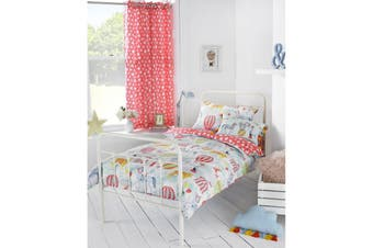Riva Paoletti Childrens/Kids Vintage Circus Ringtop Eyelet Curtains (Multicolour) (168x183cm)