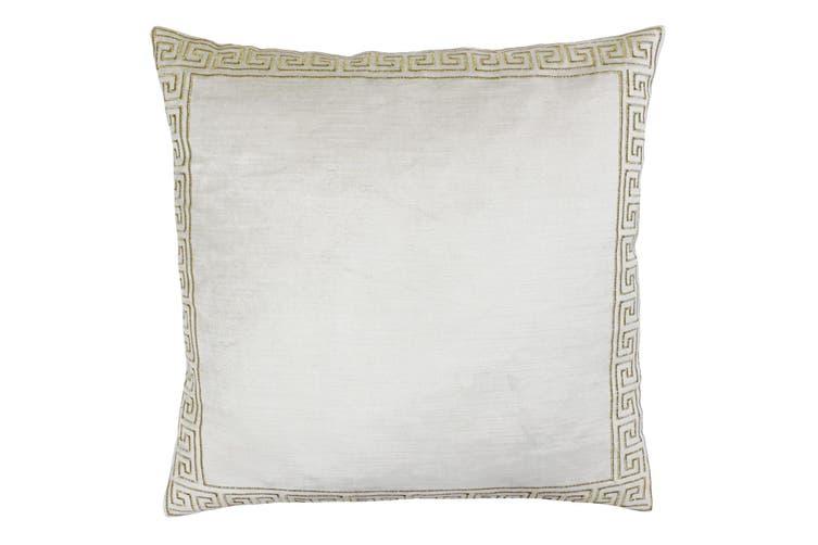 Riva Paoletti Apollo Cushion Cover (Ivory/Gold) (50x50cm)