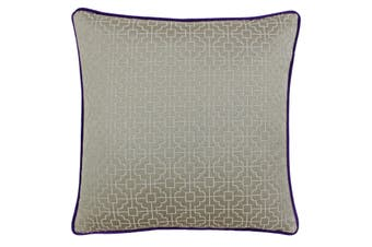Riva Paoletti Belsize Cushion Cover (Taupe/Purple) (45x45cm)