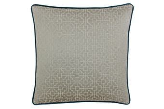 Riva Paoletti Belsize Cushion Cover (Taupe/Teal) (45x45cm)