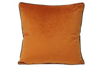 Riva Paoletti Meridian Cushion Cover (Pumpkin/Mocha) (55 x 55cm)