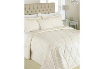 Riva Paoletti New Diamante Bedspread Set (Cream) (220 x 240cm)
