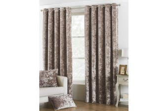 Riva Paoletti Verona Eyelet Curtains (Oyster) (90 x 90in)