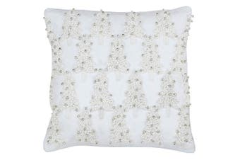 Riva Paoletti Christmas Tree Cushion Cover (White) (45 x 45cm)