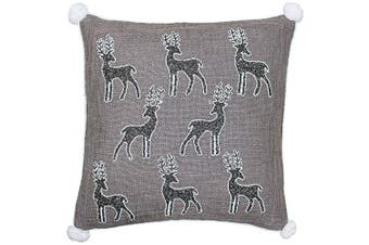 Riva Paoletti Christmas Reindeer Cushion Cover (Mocha) (50 x 50cm)