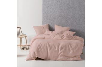 Linen House Nimes Duvet Cover Set (Rose) (Super King)