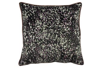 Furn Mika Abstract Painted Design Feather Filled Cushion (Rose/Green) (50 x 50cm)