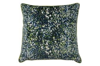 Mika Cushion Cover with Reversible Colours (Green/Teal) (One Size)