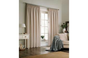 Furn Harrison Pencil Pleat Faux Wool Curtains (Pair) (Oatmeal) - UTRV1528