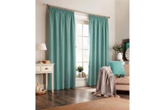 Furn Harrison Pencil Pleat Faux Wool Curtains (Pair) (Marine Blue) - UTRV1528