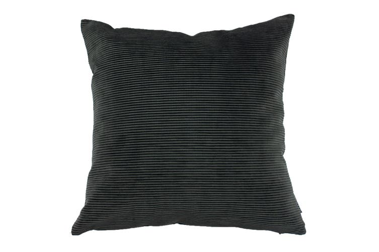 Riva Home Munich Reversible Corduroy Cushion Cover (Jet Grey) (One Size)