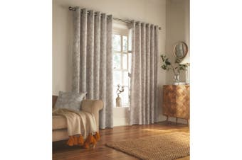 Furn Irwin Woodland Design Ringtop Eyelet Curtains (Pair) (Stone) - UTRV1548