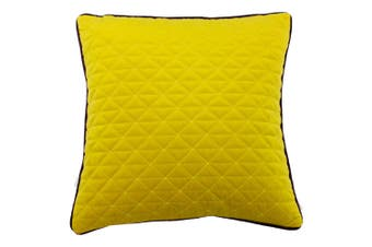 Riva Home Quartz Cushion Cover with Geometric Diamond Design (Ceylon Yellow/Aubergine Purple) (One Size)