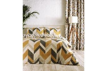 Furn Renovate Duvet Cover Set (Charcoal/Gold) - UTRV1560