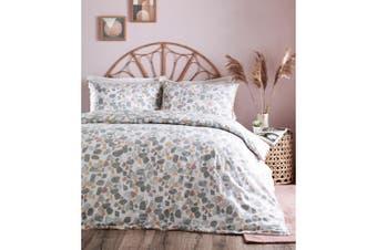 Furn Terrazo Duvet Cover Set With Marble Stone Print Design (Grey/Blush Pink/Ochre) - UTRV1595