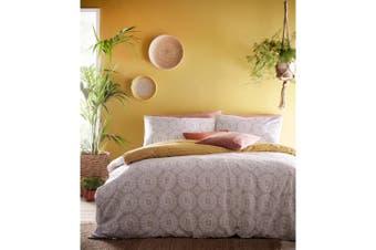 Furn Mandala Duvet Cover and Pillowcase Set (Grey/Ochre) - UTRV1613