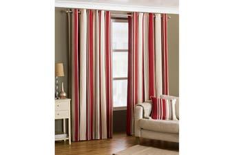 Riva Home Broadway Ringtop Curtains (Raspberry) - UTRV221