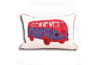 Riva Home Carnaby Campervan Cushion Cover (Red) (35x50cm)